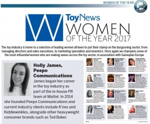 Toy News - Woman of the Year